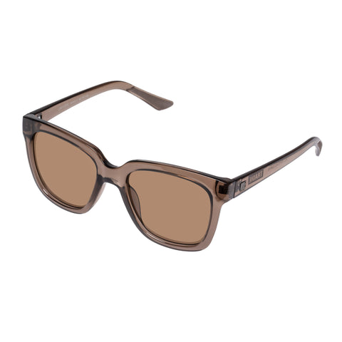 Tradie Female Limitless 1904317 W Brown Modern Rectangle Sunglasses