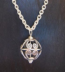 Silver Ball Necklace 925 sterling silver - Florida Eco Products