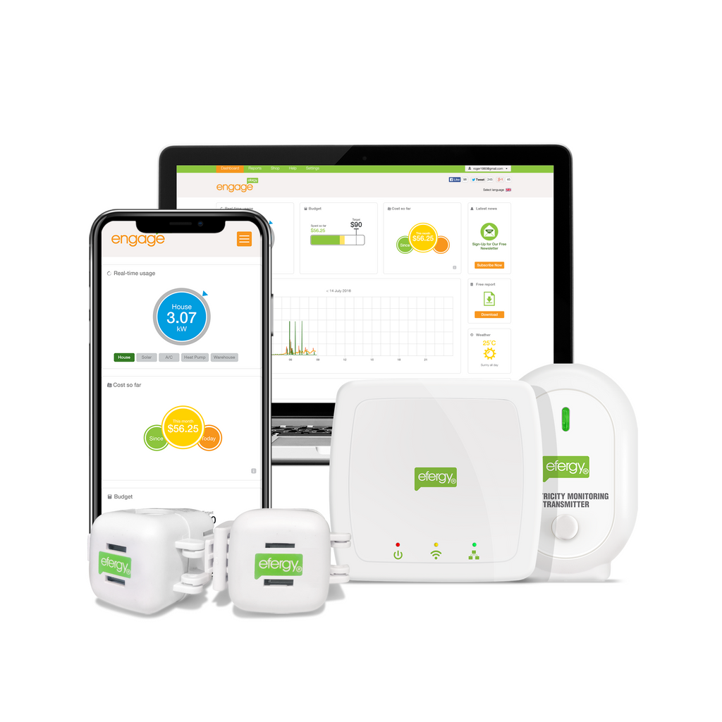 Efergy Engage Hub Kit EN-CT-US on-line data access