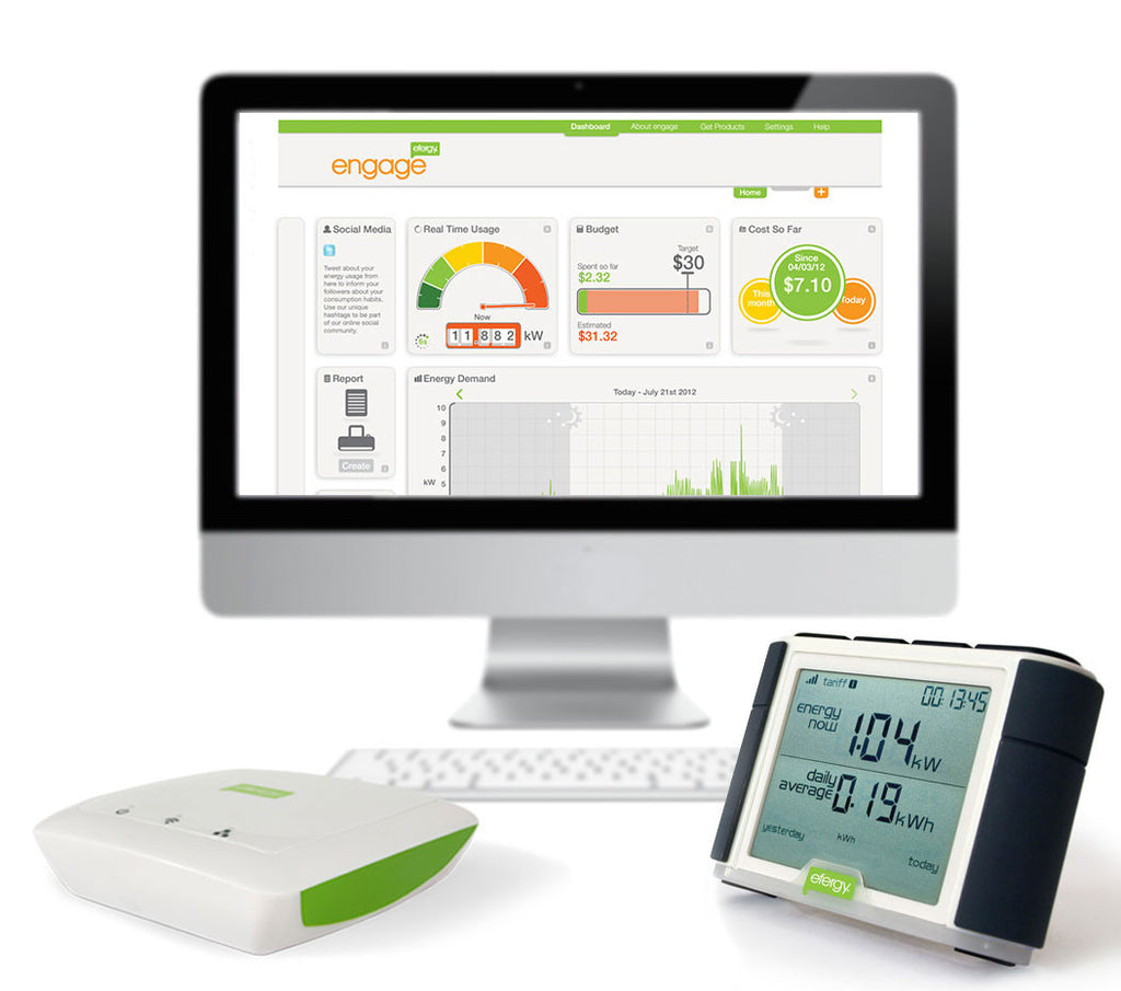 Efergy Elite combo monitor with enage hub ELC-CT-EN-US