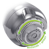 Niagara 1.25 GPM Earth Massage Chrome Plated Showerhead N2912CH - Florida Eco Products  - 3