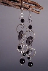Black Ice Dangles Earrings - Florida Eco Products