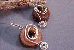 Recycled Wood 'n' Swirls Earrings - Florida Eco Products
