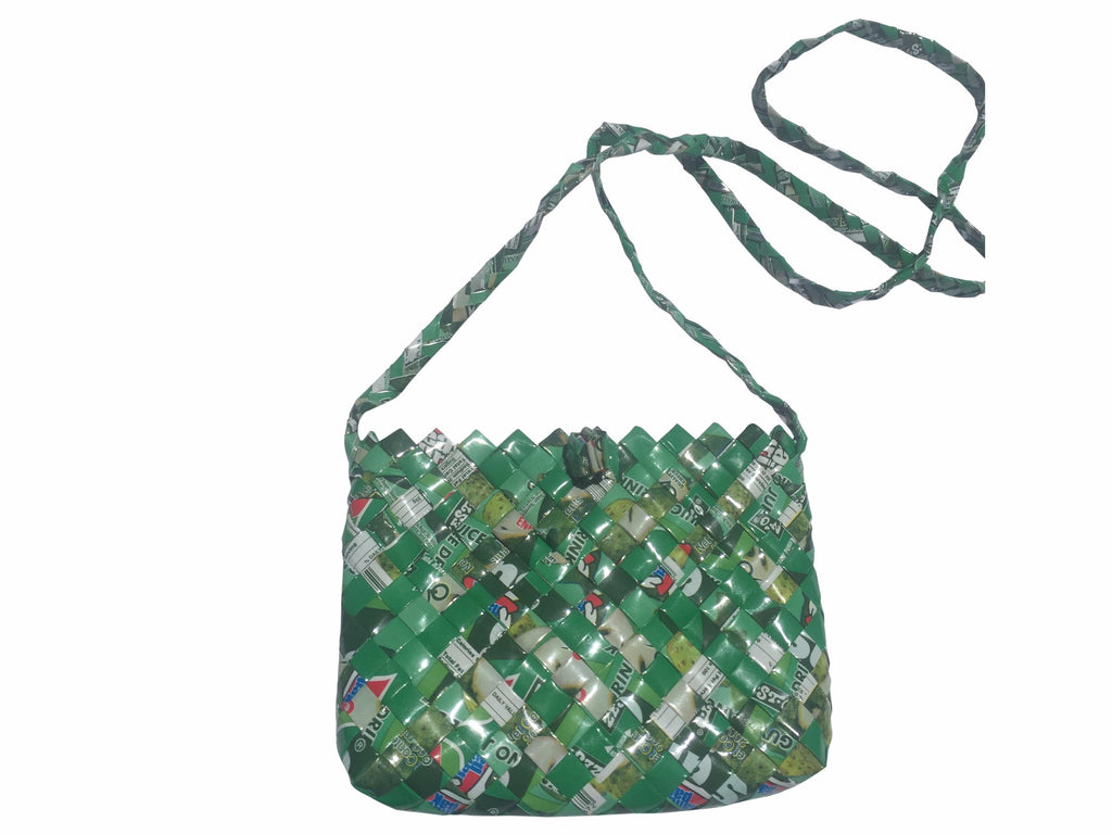 Recycled sling purse