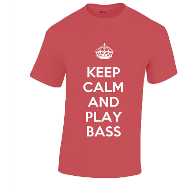 Cotton Music T-Shirt KEEP CALM AND PLAY... Strings Clothing Penwarden Music