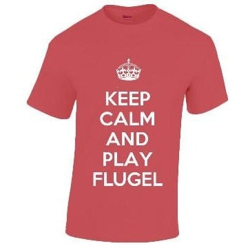 Cotton Music T-Shirt KEEP CALM AND PLAY... Band Instruments Clothing Penwarden Music