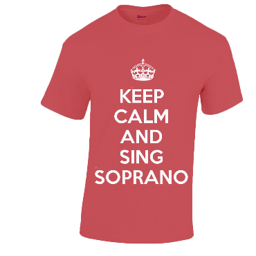 Cotton Music T-Shirt KEEP CALM AND SING... Voices Clothing Penwarden Music