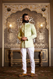 Mint Green Linen Silk Jodhpuri