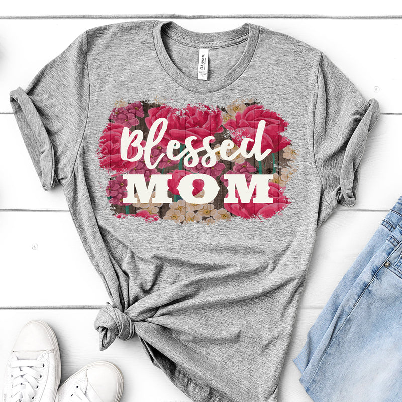 BLESSED MOM T-SHIRT OR TANK