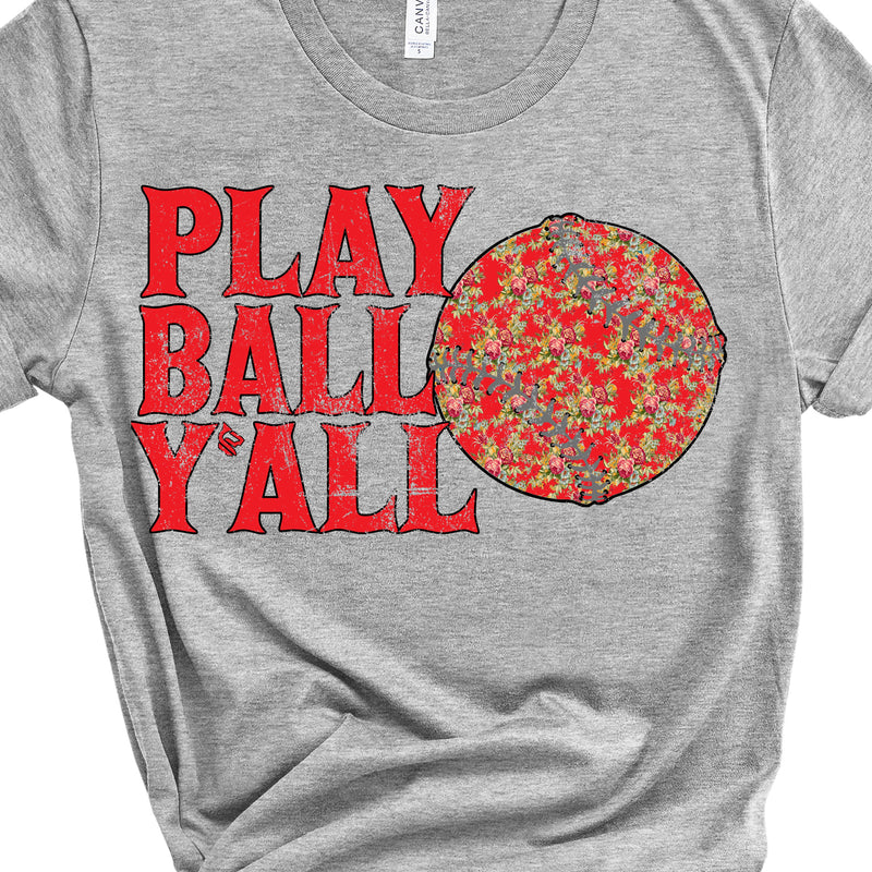 Play Ball Yall Floral