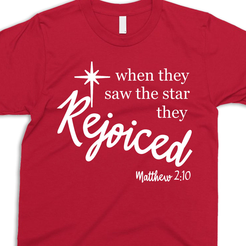 CHRISTMAS: WHEN THEY SAW THE STAR THEY REJOICED