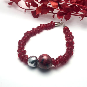 Collana Ring Red