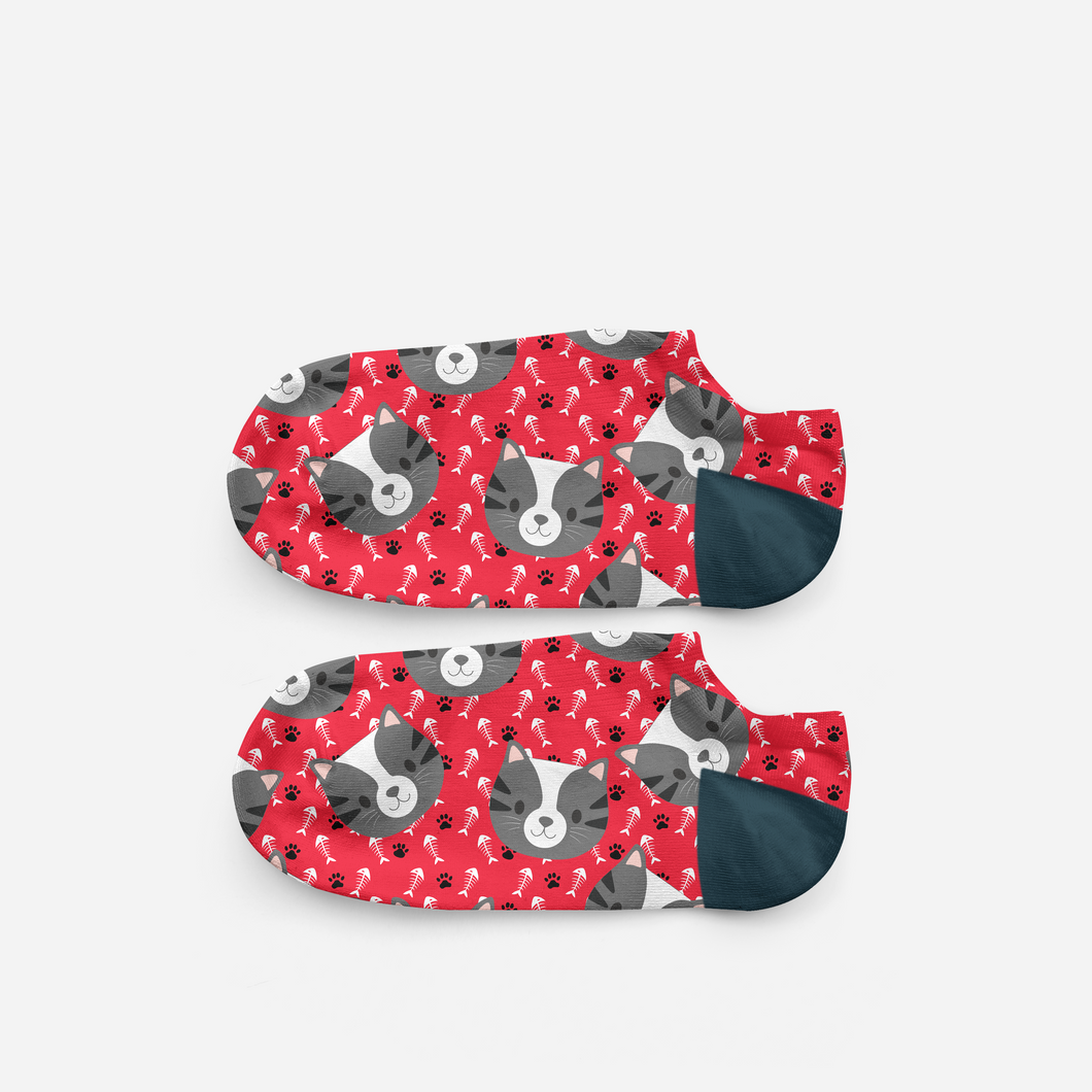 Standard Cat Head Ankle Socks