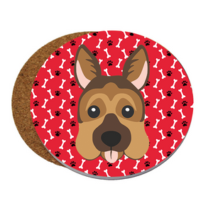 Standard Dog Head Sandstone Coaster (set of 4)