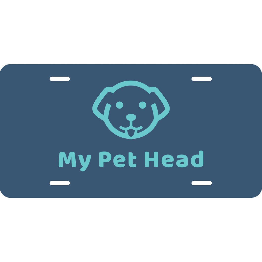 My Pet Head License Plate