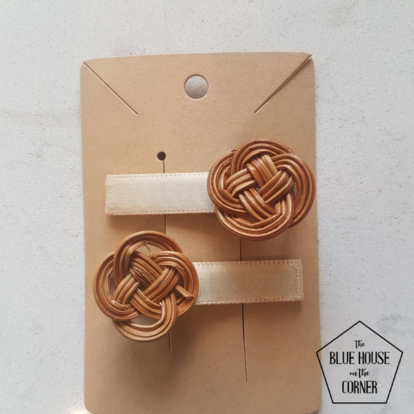 Chinese Knot Mini Hair Clip set