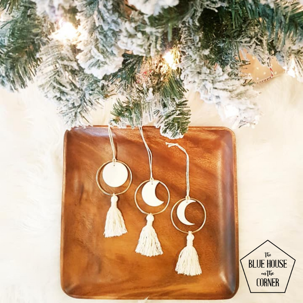 Natural - Moon Phase Ornaments