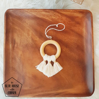 Wood + Tassel Ornament