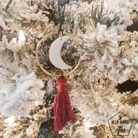 Cranberry - Moon Phase Ornaments
