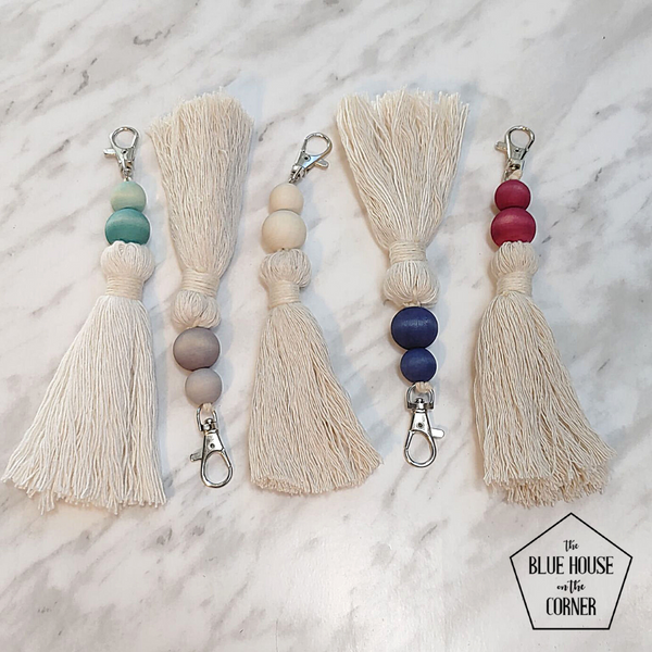 Essential Oil Tassel Key Chains