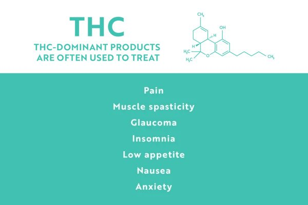 list of potential THC benefits