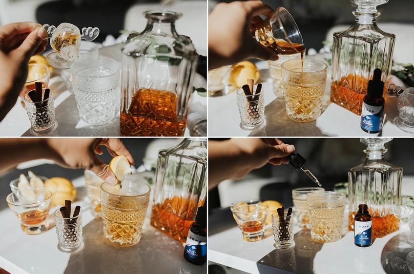 The process of making a CBD-infused Hot Toddy