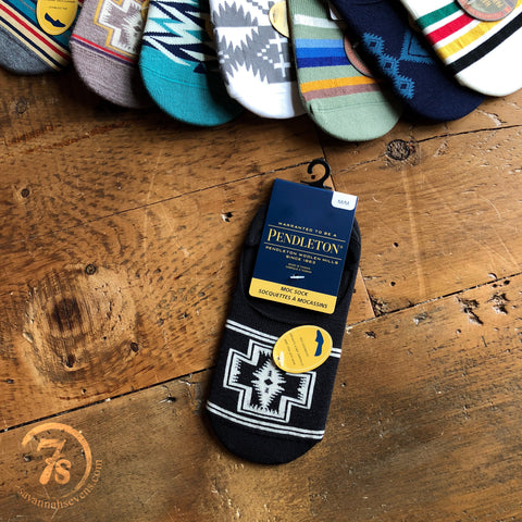 Harding Black Pendleton Moc Socks