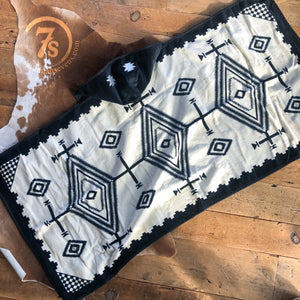 Los Ojos {black} Hooded Baby Towel