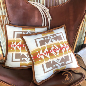 Chief Joseph Cream Pillow