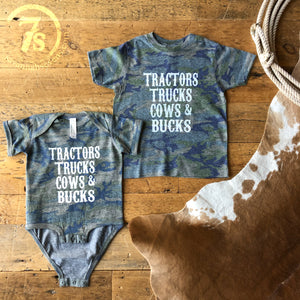 The Trucks and Bucks {infant & toddler}