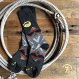 Heather Brown Southwest Pendleton Crew Sock