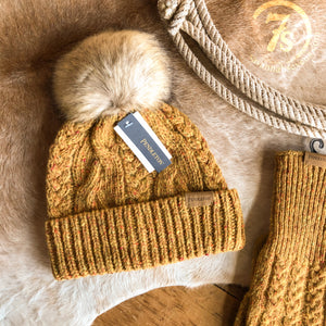 Cable Knit Stocking Cap {mustard}