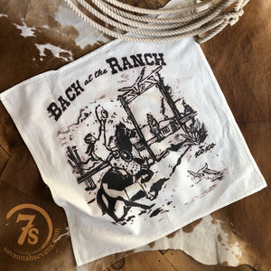 Back At The Ranch Tea Towel