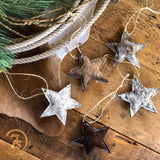 Star Cowhide Ornament
