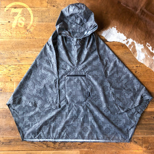 Nova Cross Grey Rain Poncho