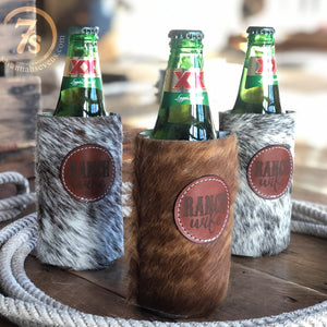 Ranch Wife Cowhide Koozie
