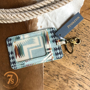 The Harding Aqua Luggage Tag