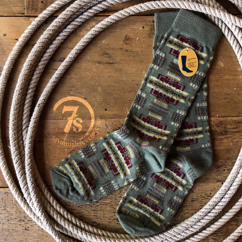 Turquoise Eagle Rock Pendleton Crew Sock