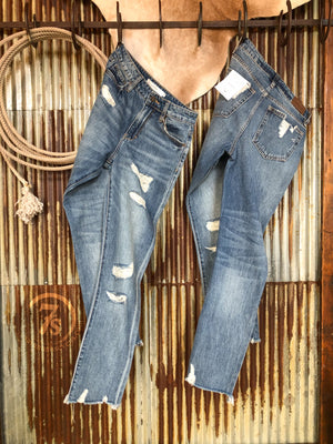 The Beau High Rise Straight Crop Jean