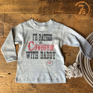The Rather Be Cowboyin' Kiddo Tee