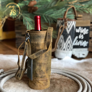 Oiled Leather Wine Tote