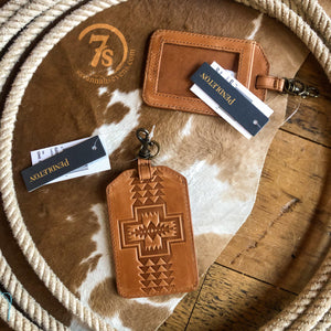 Harding Leather Luggage Tag