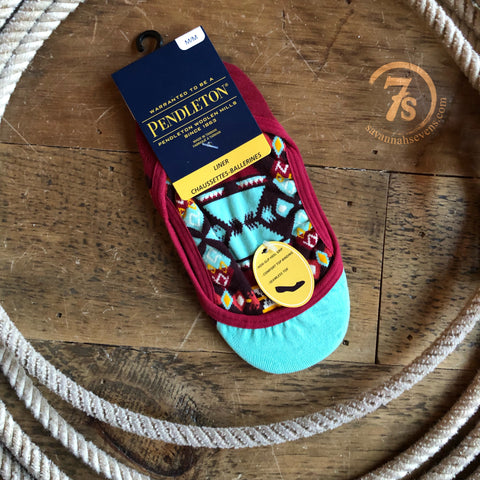 Turquoise Falcon Cove Pendleton No Show Sock