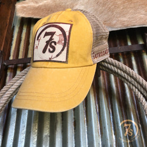 7s Foil Patch Cap {mustard}