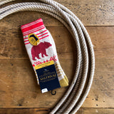 Ivory Bear Path Pendleton Camp Crew Sock