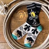 Black Navigator Pendleton Camp Crew Sock