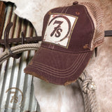 7s Foil Patch Cap {vintage burgundy}