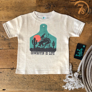 The Cowboyin' Is Life Kiddo Tee