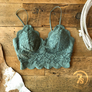 The Purcell Crop Bralette {green sage}