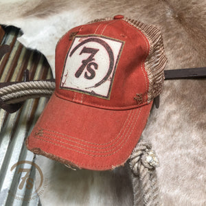 7's Foil Patch Cap {burnt orange}
